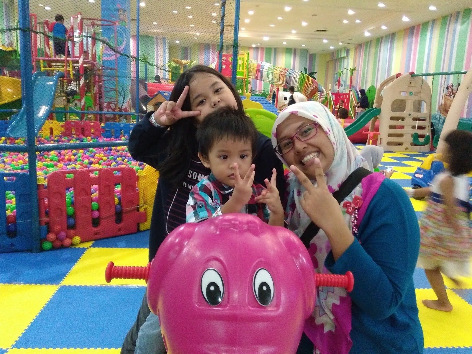 three people, playground, people