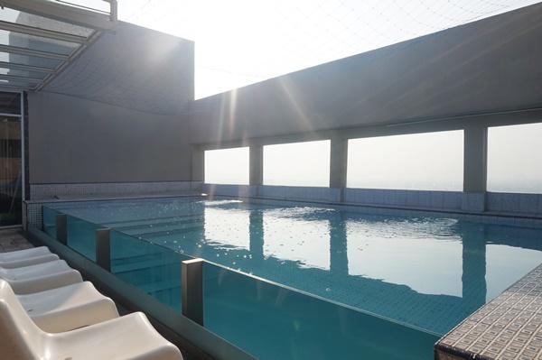 swimming pool, grand tebu hotel